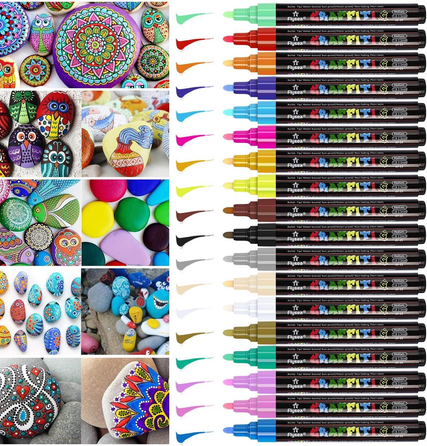 Rotuladores Metálicos, Emooqi Marker Pen Rotuladores de Colores 18 Multicolor Marcador Pens, para en Cualquier Superficie, Fabricación de Tarjetas y Álbum de Fotos de Bricolaje,Pascua de Resurrección