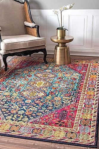 nuLOOM Meadow Vintage Vibrant Area Rug, 4 x 6 , Multi