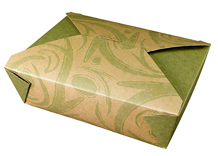 Fold-Pak Bio-Plus Earth 03BPSONOMM Sonoma Print Paper Carry-Out/to-Go Container, 7-3/4