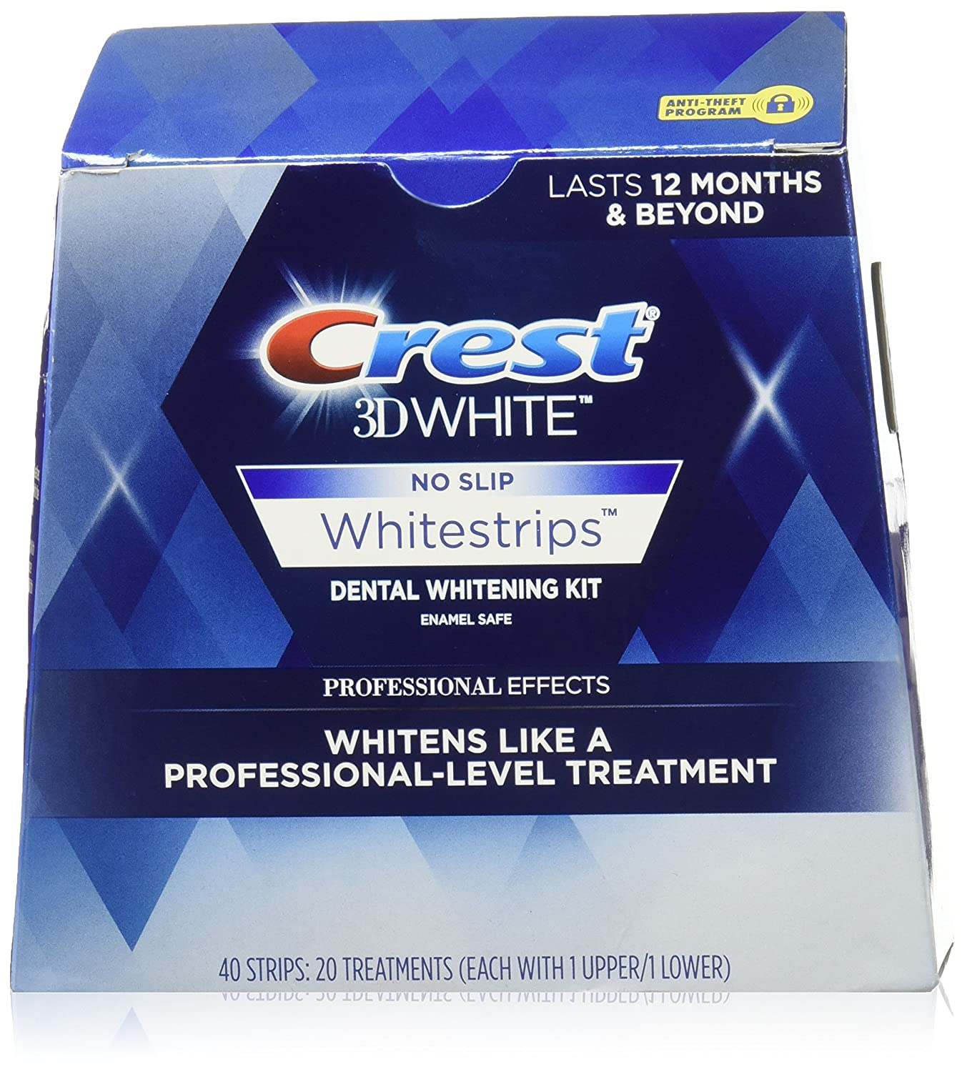 Crest 3D No Slip Whitestrips Professional Effects Teeth Whitening Kit 20 ea  best teeth whitening kit 2020