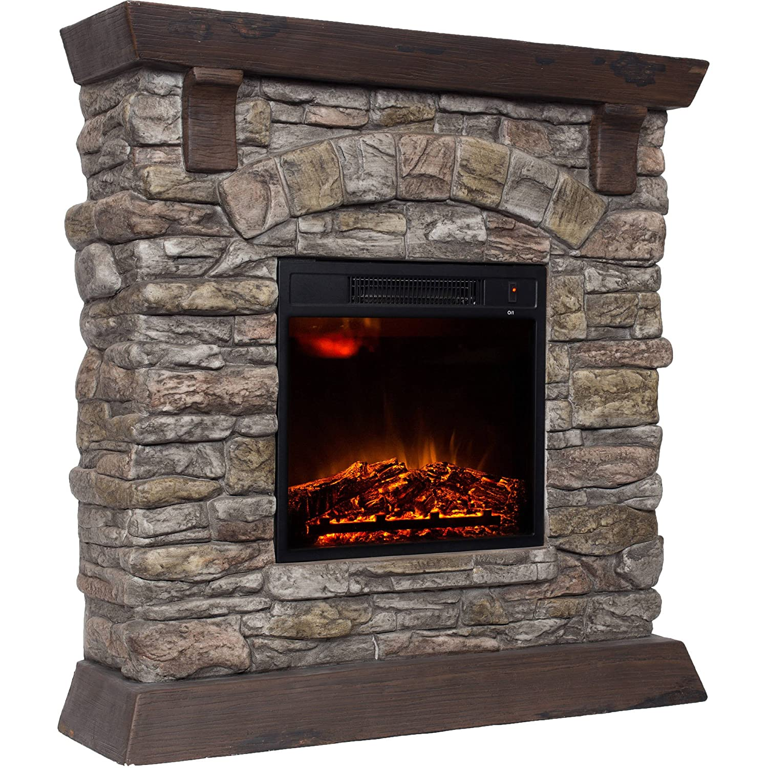 Amazon Com Decor Flame 38 Electric Fireplace Home Kitchen