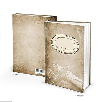 XXL Cuaderno en blanco marrón crema libro con título personalizado ...