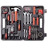 Cartman 148-Piece Tool Set - General Household Hand Tool Kit with Plastic Toolbox Storage Case, Socket & Socket Wrench…