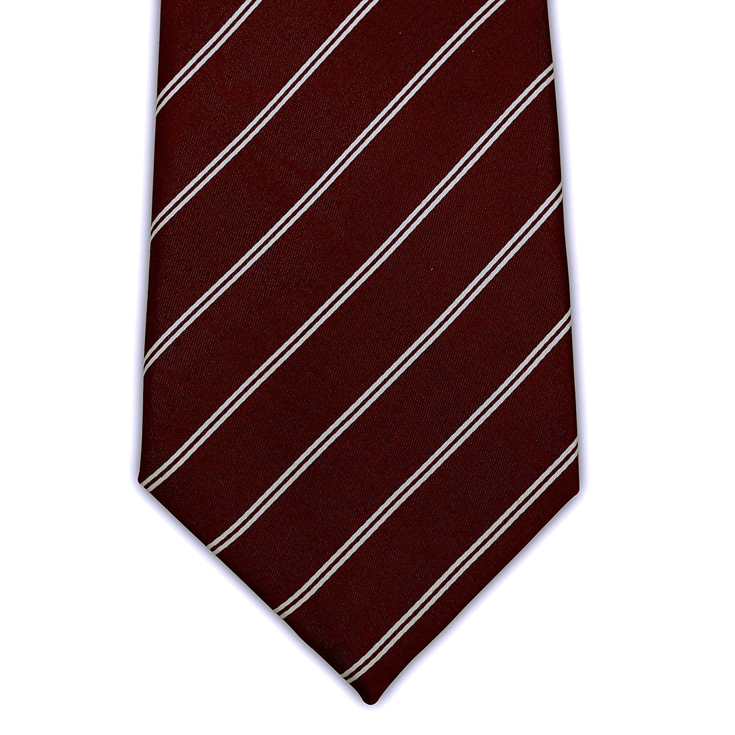 63 XL and 70 XXL Dual Pinstripe 100/% Silk Extra Long Necktie for Big and Tall Men