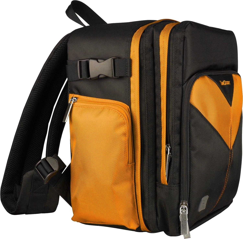 DMC FV200 Sparta Travel Nylon Backpack Bag Orange, Black DMC FZ48 DMC FZ62 DMC FZ72 DSLR Camera for Panasonic Lumix DMC FZ150