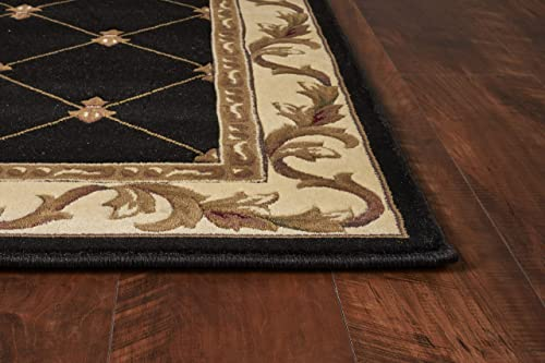KAS Oriental Rugs Corinthian Collection Fleur-De-Lis Area Rug