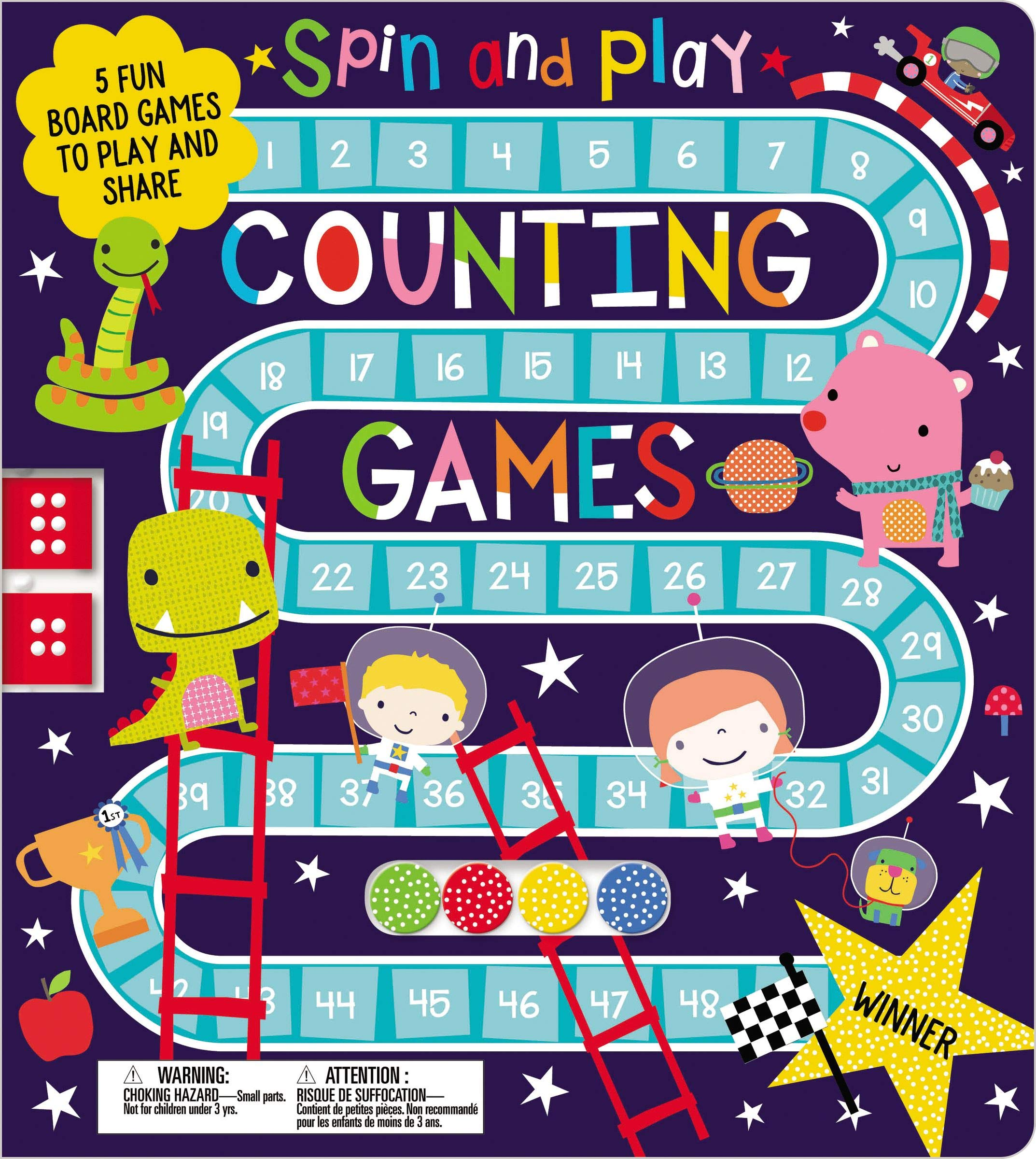 Spin and Play Counting Games: Amazon co uk: Make Believe