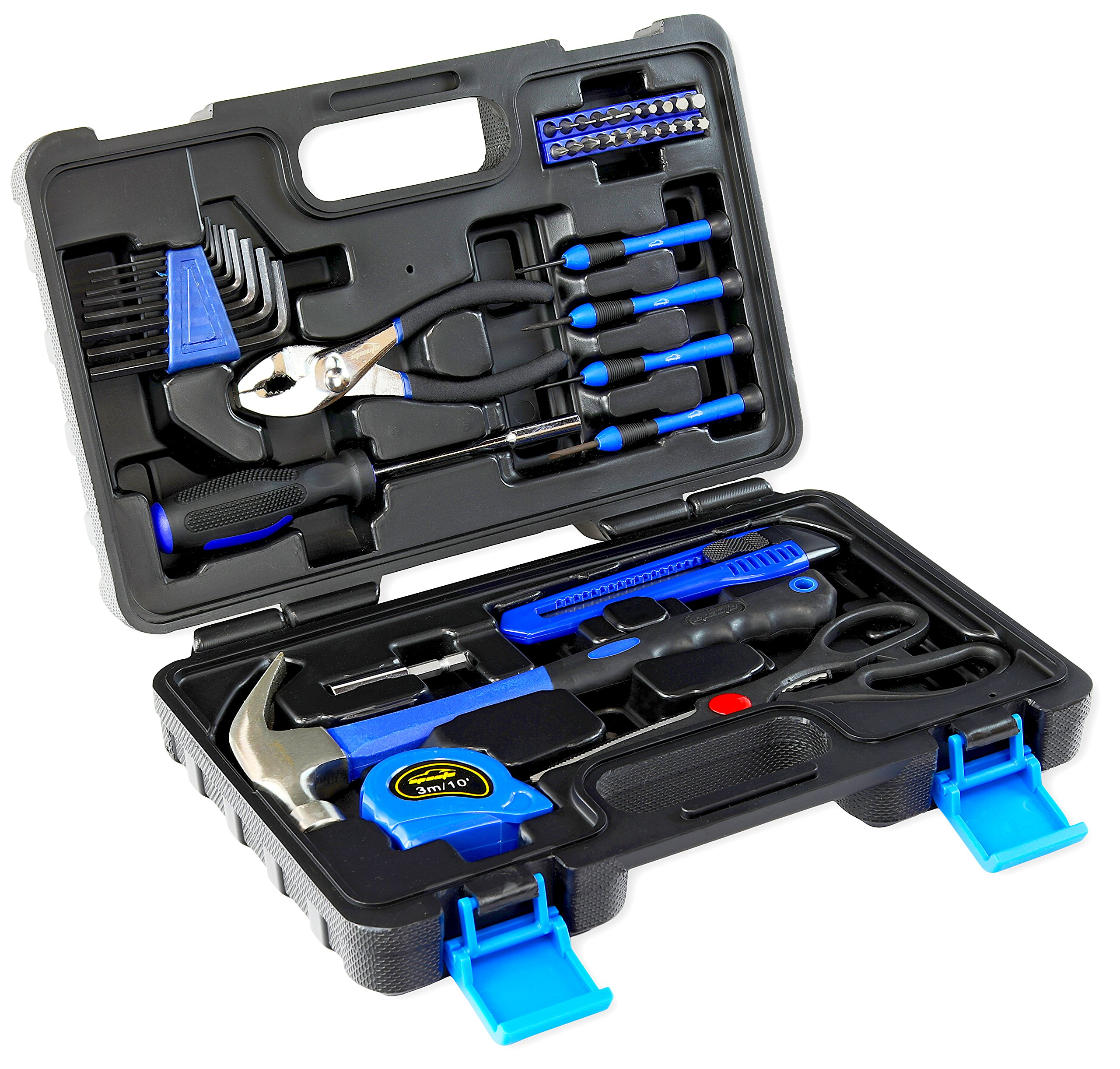 39-Piece Tool Set - General Household Hand Tool Kit with Toolbox Storage Case