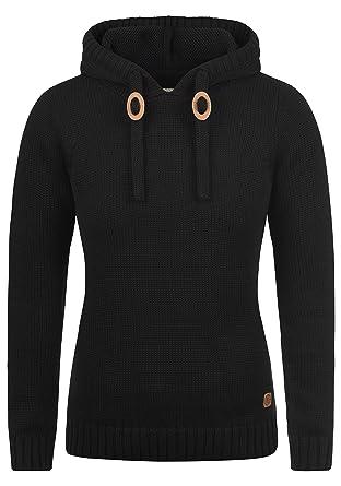 207cd5608bb487 DESIRES Pita Damen Winter Strickpullover Troyer Grobstrick Pullover mit  Kapuze, Größe:XS, Farbe