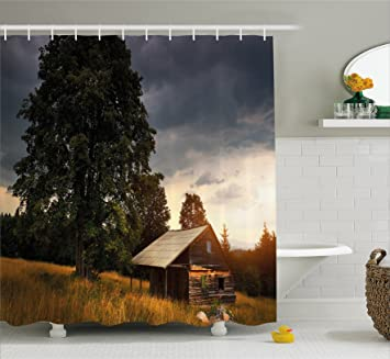 Amazon Rustic Home Decor Shower Curtain By Ambesonne Deserted