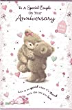 Wedding Anniversary Card ~ To A Special Couple On Your Wedding Anniversary ~ Bears With Heart