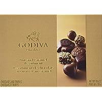 Godiva Chocolatier Assorted Chocolates Nut and Caramel Gift Box, 19 Pieces