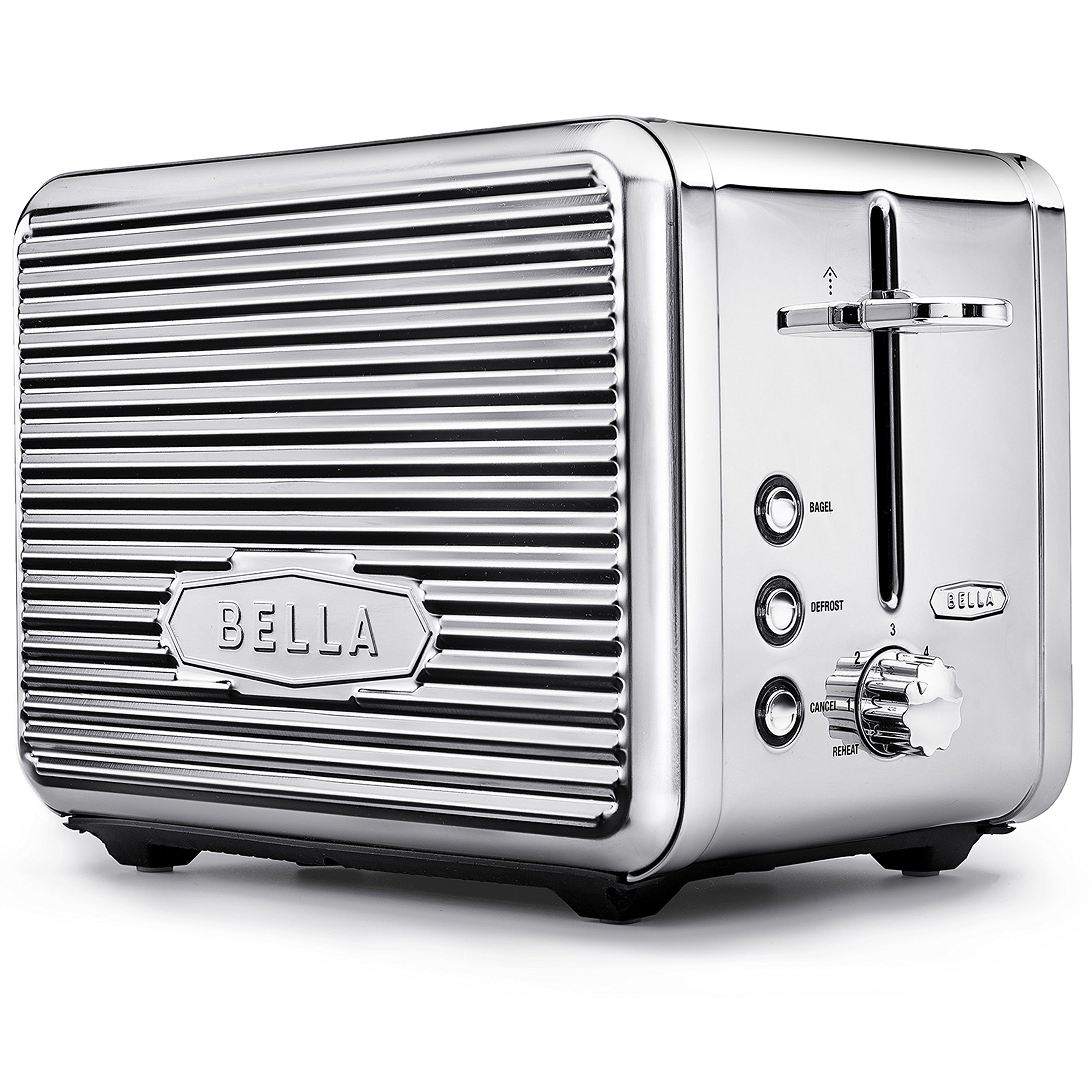 BELLA (14387) Linea Collection 2 Slice Toaster with Extra Wide Slot, Polished Stainless Steel by BELLA