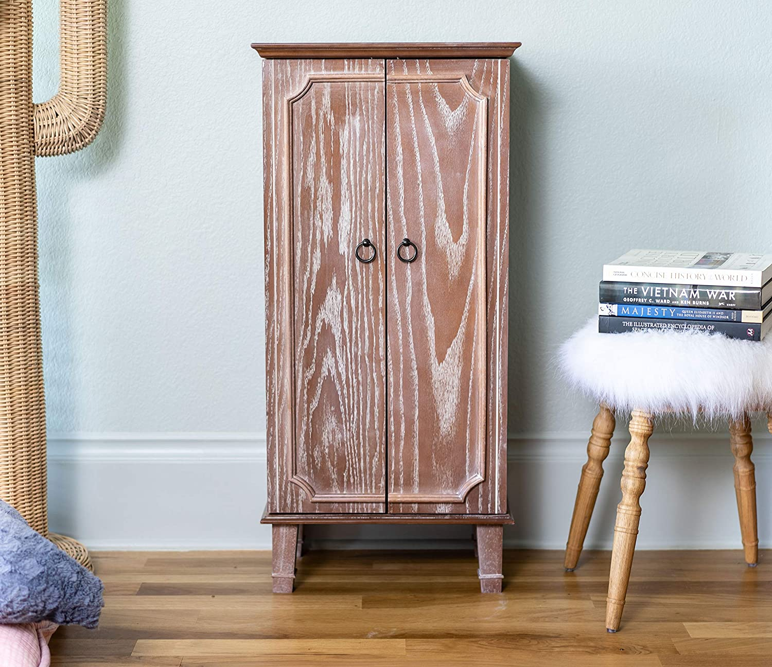 OAK Hives and Honey Carson Fully Locking Jewelry Cabinet