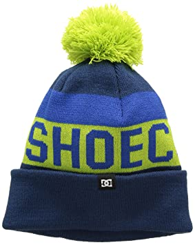 480694478c67 DC Shoes Chester Youth Gorro con pompón, Niño, Azul, Talla única ...
