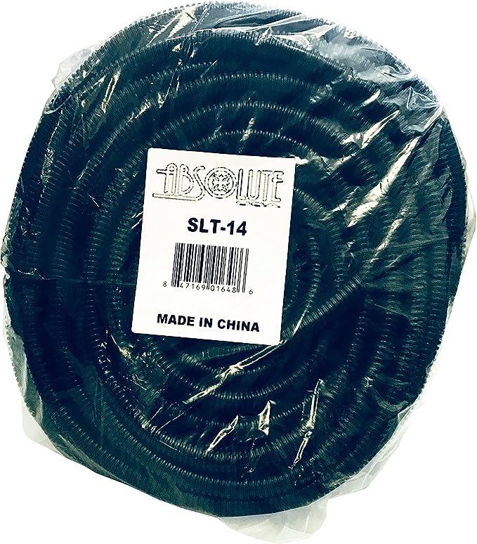 Absolute USA SLT12 1//2-Inch x 100-Feet Split Loom Tube