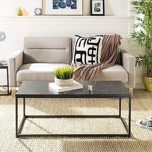 Safavieh Home Baize Black Rectangle Coffee Table