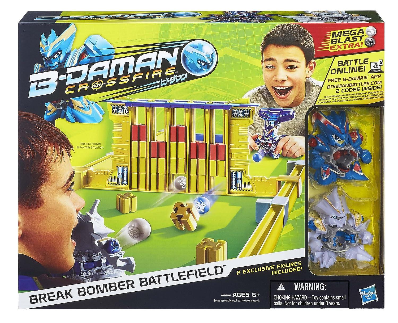 e0cd9185dd96f9 Amazon.com  B-Daman Crossfire Break Bomber Battlefield Set(Discontinued by  manufacturer)  Toys   Games