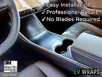 Tesla White EV Wraps Tesla Model 3 Center Console Wrap