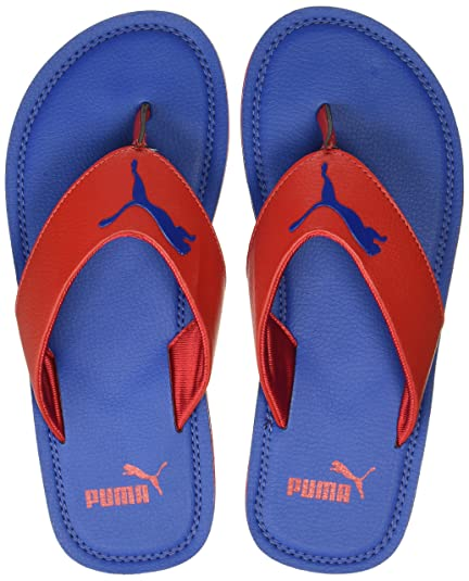 34d572f78edd Puma Men s Flash Cat Idp True Blue and Barbados Cherry Hawaii Thong Sandals  - 10 UK