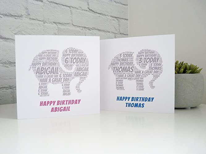 Personalised Elephant Birthday Card Personalised Kids Birthday Card