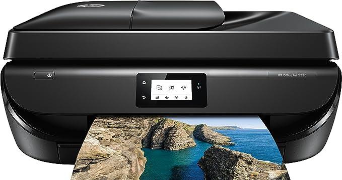 HP OfficeJet 5220 4800 x 1200DPI Inyección de Tinta A4 10ppm WiFi - Impresora multifunción (Inyección de Tinta, 4800 x 1200 dpi, 100 Hojas, A4, Impresión Directa, Negro)