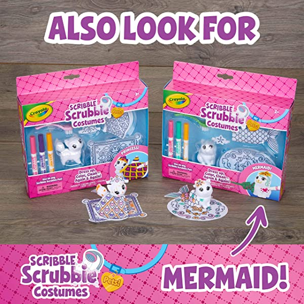 Crayola Scribble Scrubbie Princess Costume Playset