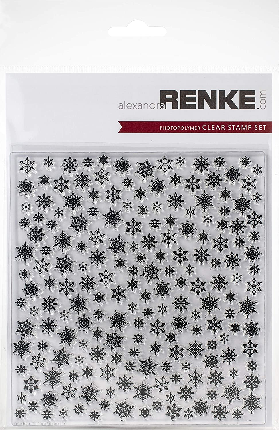 Abstract CLR Stamps ALEXANDRA RENKE 3PL Snowflakes Pattern