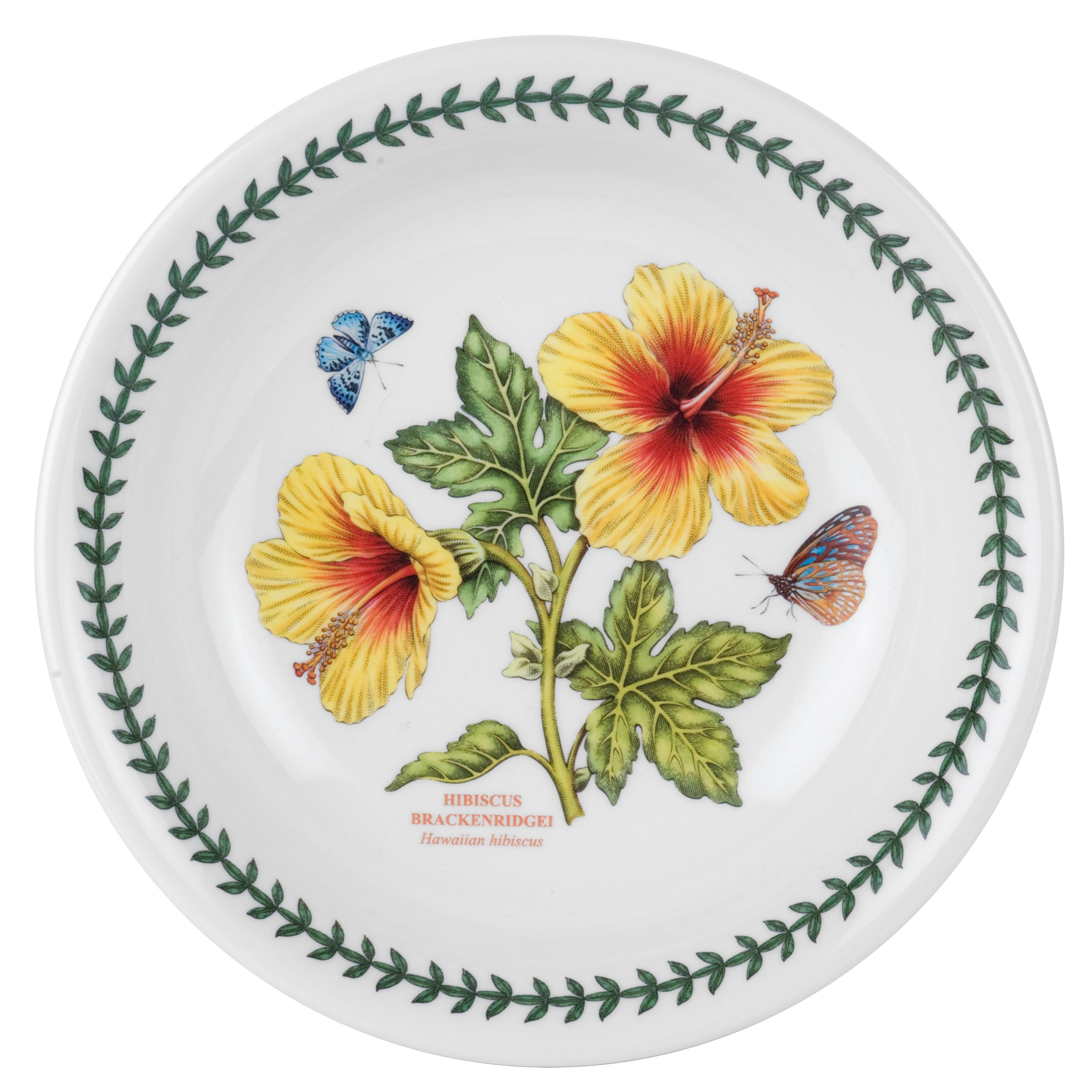 Portmeirion Exotic Botanic Garden Pasta Bowl with Hibiscus Motif, Set of 6