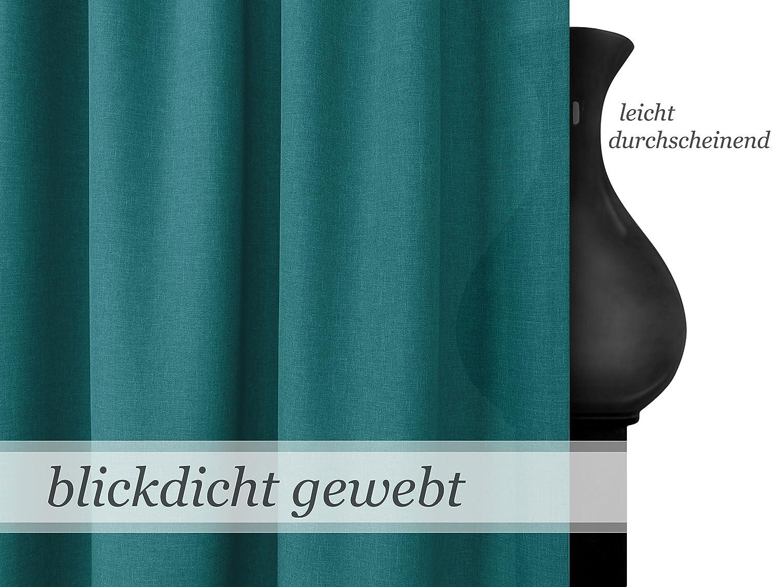 Wohndekoration in elegantem Design leicht changierend npluseins Schlaufenschal unifarbener Dekostoff in 17 Farben Taupe