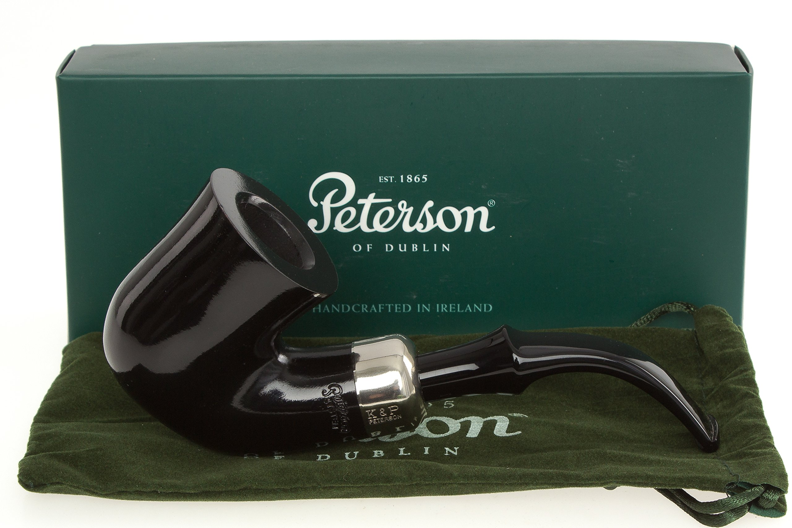 Peterson System Ebony XL315 Smooth Tobacco Pipe Fishtail