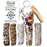 JL Local Ancient Energy 6pc Smudging Kit Sampler: Natural Flower Sage, White Sage, Yerba Santa, Blue Sage, Juniper Sage…