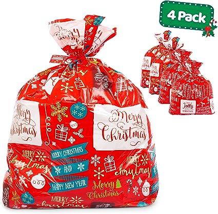 Amazon.com: Bolsas grandes de regalo de Navidad, paquete de ...