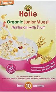 Holle Papilla de Muesli Multicereales con Fruta (+10 meses) - Paquete de 8