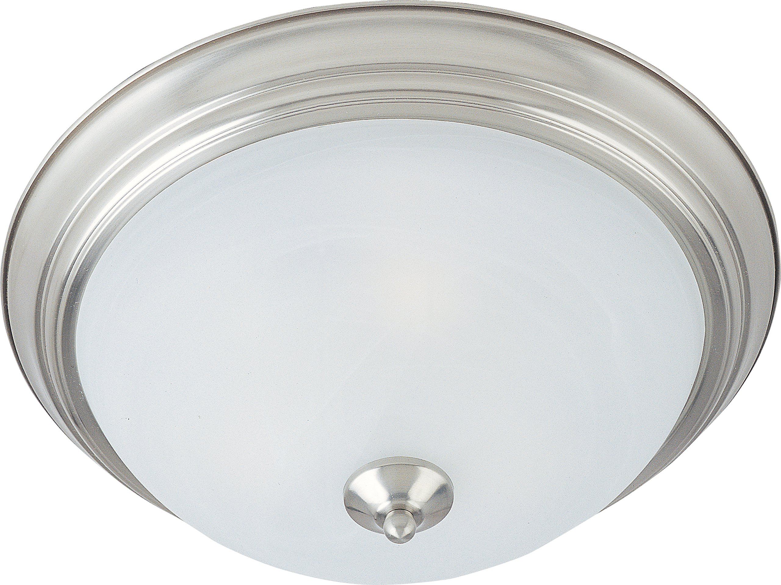 Maxim 85840MRSN Flush Mount EE 1-Light Flush Mount, Satin Nickel Finish, Marble Glass, GU24 Fluorescent Fluorescent Bulb , 60W Max., Dry Safety Rating, Standard Dimmable, Glass Shade Material, 1344 Rated Lumens