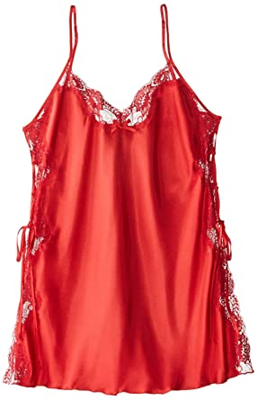 dbae410d1ae Shirley of Hollywood Women s Plus Charmeuse and Lace Chemise