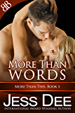More Than Words (More Than This Book 3)