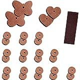 Protector antipolillas (madera de cedro, 29 piezas) Discos aromatizados para armarios con cordeles y papel de lija.