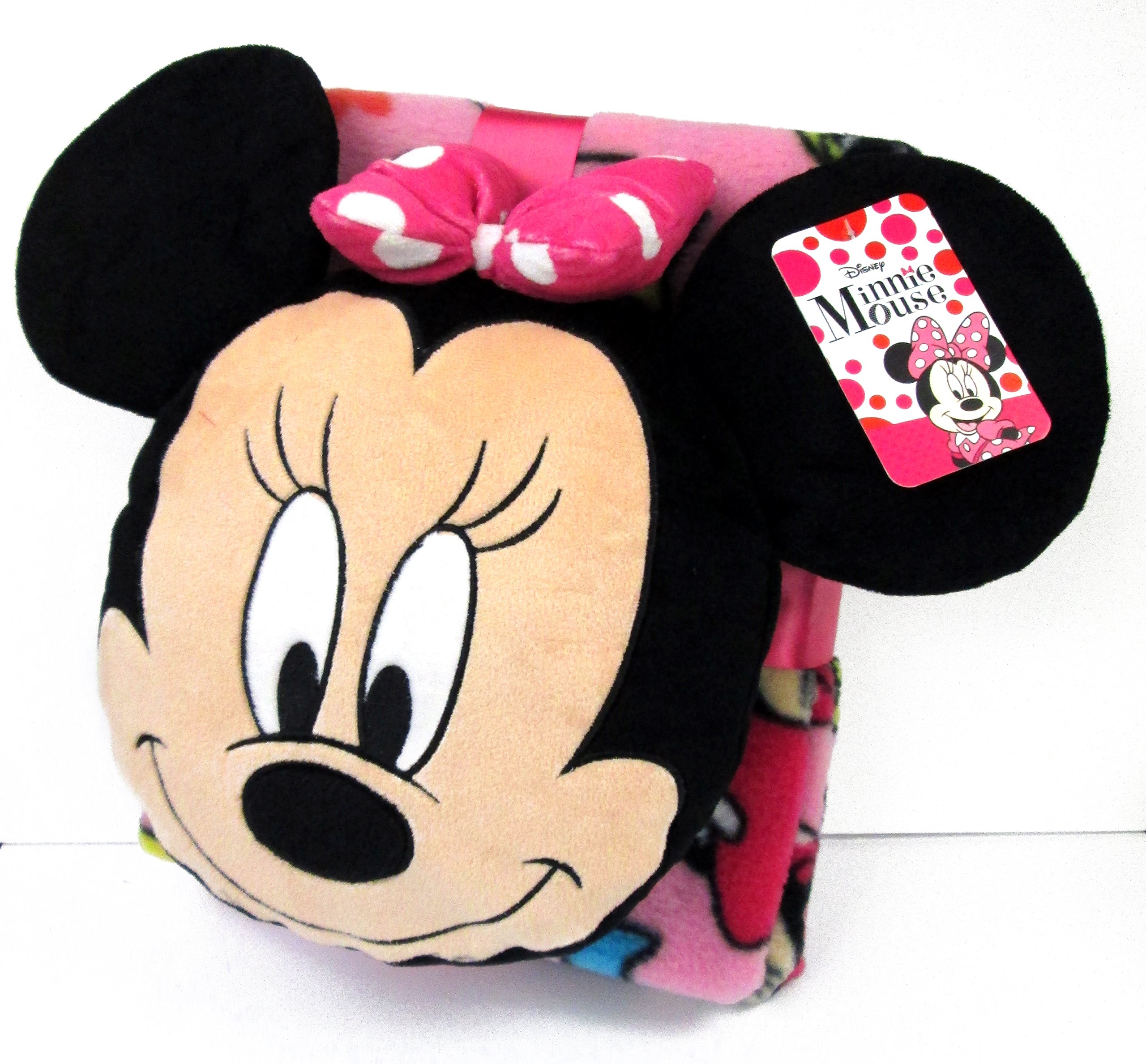 Disney Minnie Mouse Doodle Nogginz Pillow with 40'' x 50'' Travel Blanket Set by Disney (Image #4)