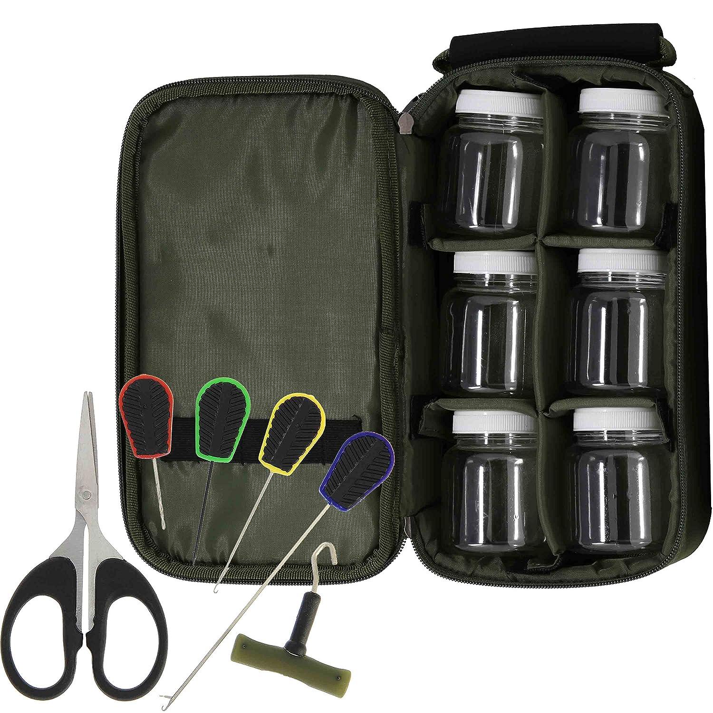 G8DS/® Tasche mit 6 Glug Karpfenangeln Ausr/üstung Angeln Schiff Meer G8DS/® Angel-Set 6tlg G8DS/® Werkzeug-Set mit Knotenzieher u.v.m