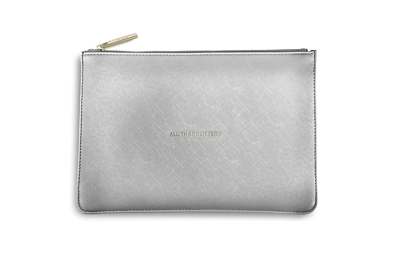 Silver leather tote bag uk - Katie Loxton Perfect Pouch Clutch Bag Metallic Silver All That Glitters