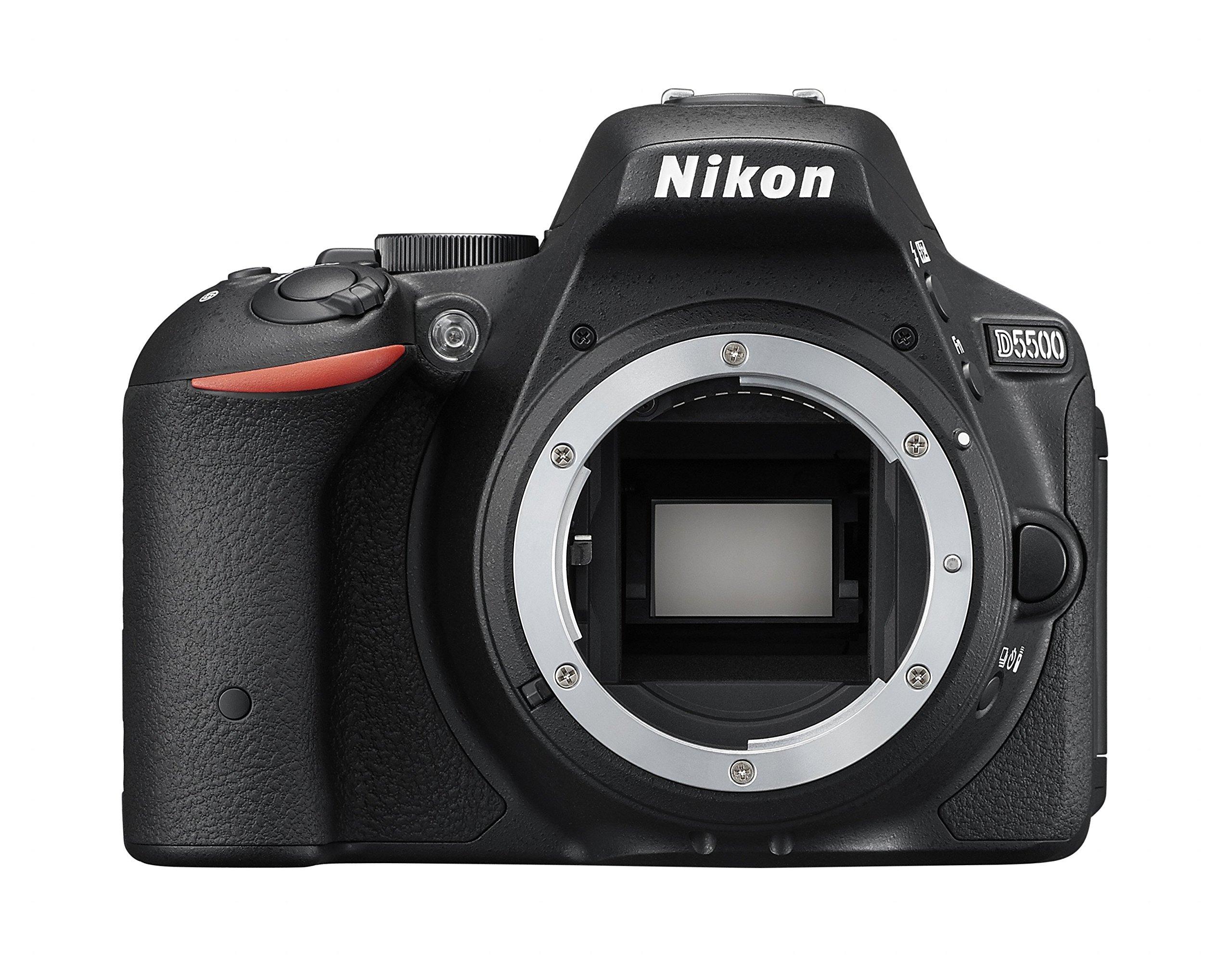 Nikon D5500 Fotocamera Reflex Digitale, Solo Corpo, 24,2 Megapixel, LCD Touchscreen Regolabile, Wi-Fi Incorporato, Nero [Versione EU] product image
