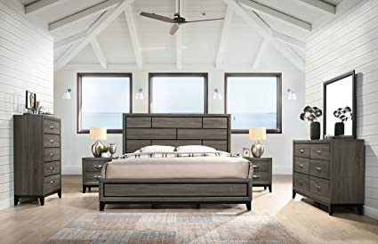f35d16e12 Amazon.com: Stout Panel King Size Bedroom Set with Bed, Dresser ...