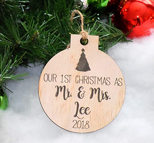 Christmas Ornaments With Names On Them.Amazon Com Our First Christmas Ornament Personalized