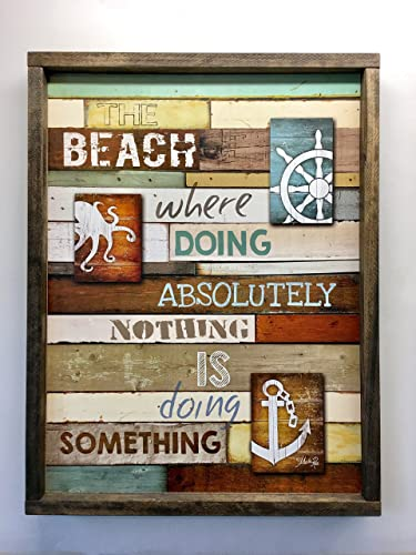 Amazon.com: Beach Sign - Perfect Beach - House Decor - Large 26 in x ...