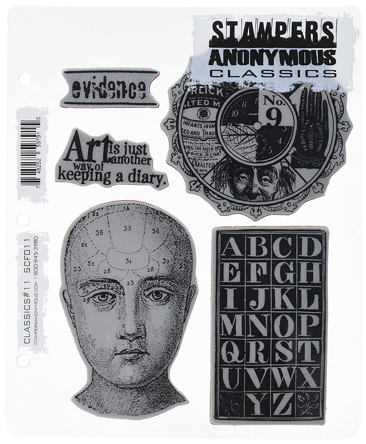7-Inch by 8.5-Inch Stampers Anonymous Rubber Stamp Set Classics Number 11