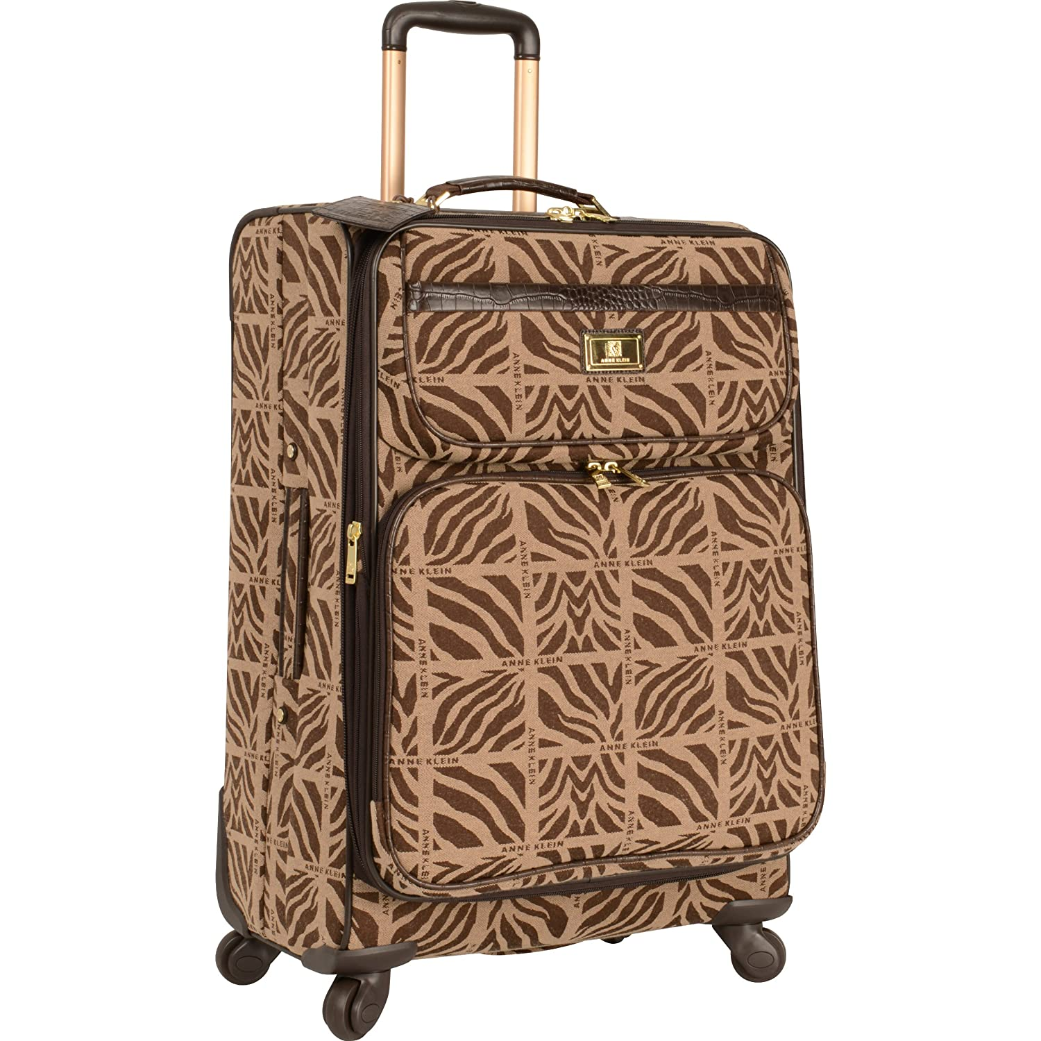 Anne Klein Mane Line 24-Inch Expandable Spinner, Tan/Brown, One Size 2765C03