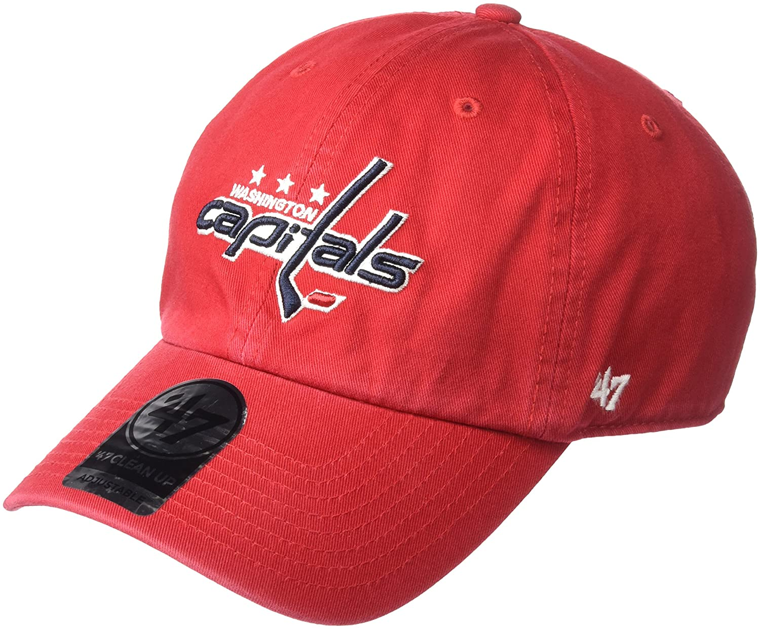 watch 90edf 4cce7 Amazon.com    47 NHL Washington Capitals Clean Up Adjustable Hat, One Size,  Red   Baseball Caps   Sports   Outdoors