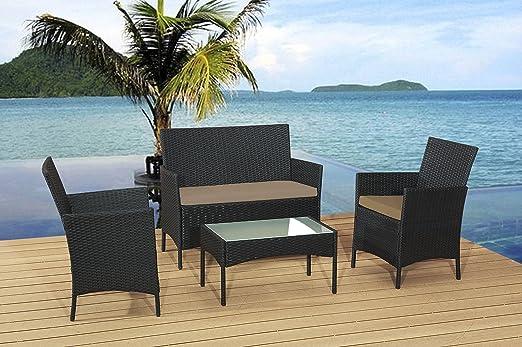 Classic muebles de jardín juego de mesa silla y sofá de ratán ...