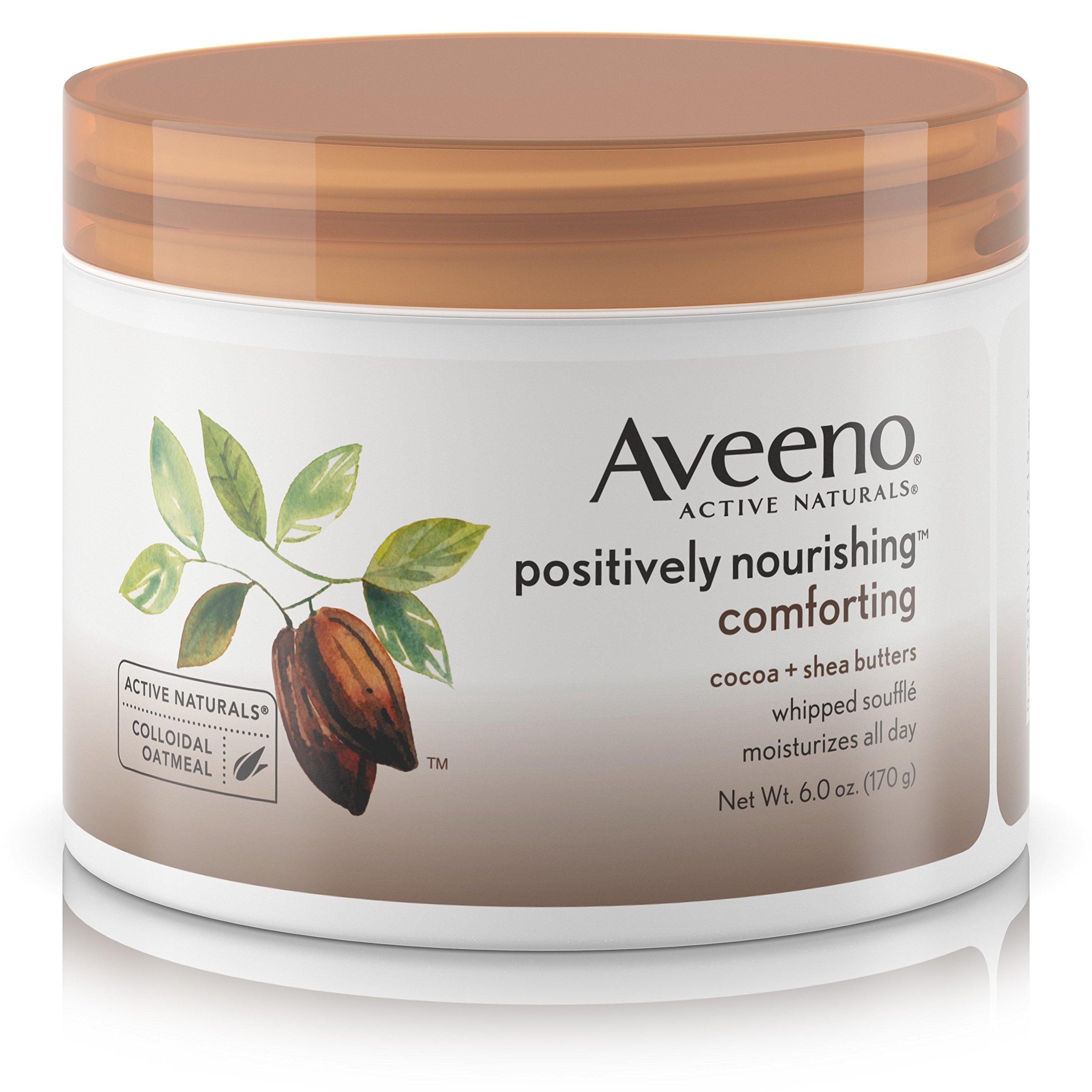 Aveeno Positively Nourishing Daily Moisturizer Comforting Whipped Soufflé, 6 Oz
